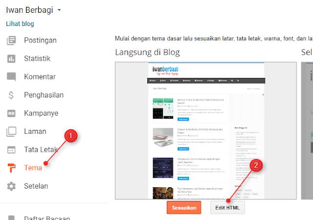 Cara Mengganti Template Blogger dengan Custom Template