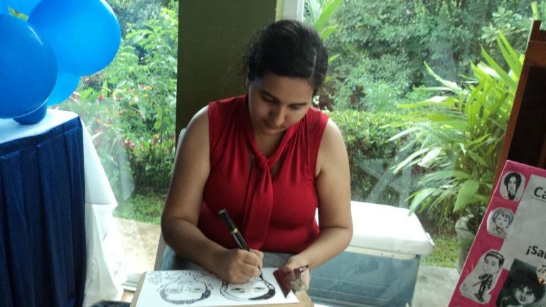Caricaturas en vivo en Panamá
