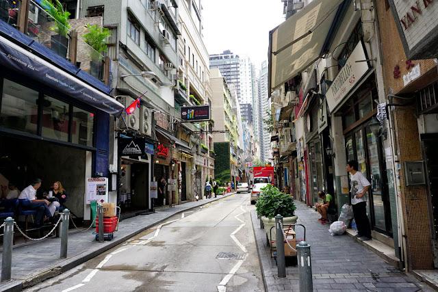 香港のソーホーまで来るとオシャレ感漂う。