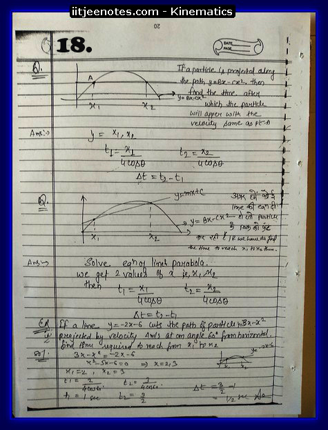 kinematics notes cbse2