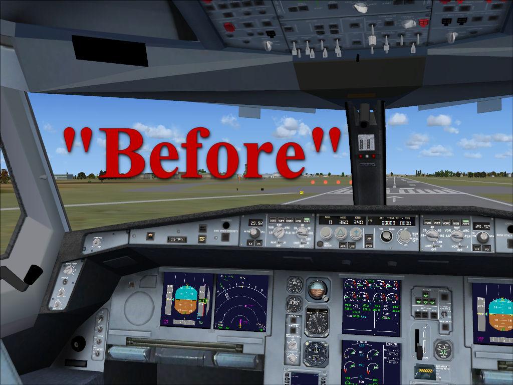 Flightsim Workshop: FSX Airbus Cockpit Texture Upgrade