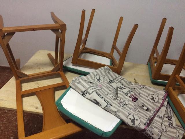 El blog de lorenna tapizar sillas para el sal n - Como tapizar una silla con respaldo ...