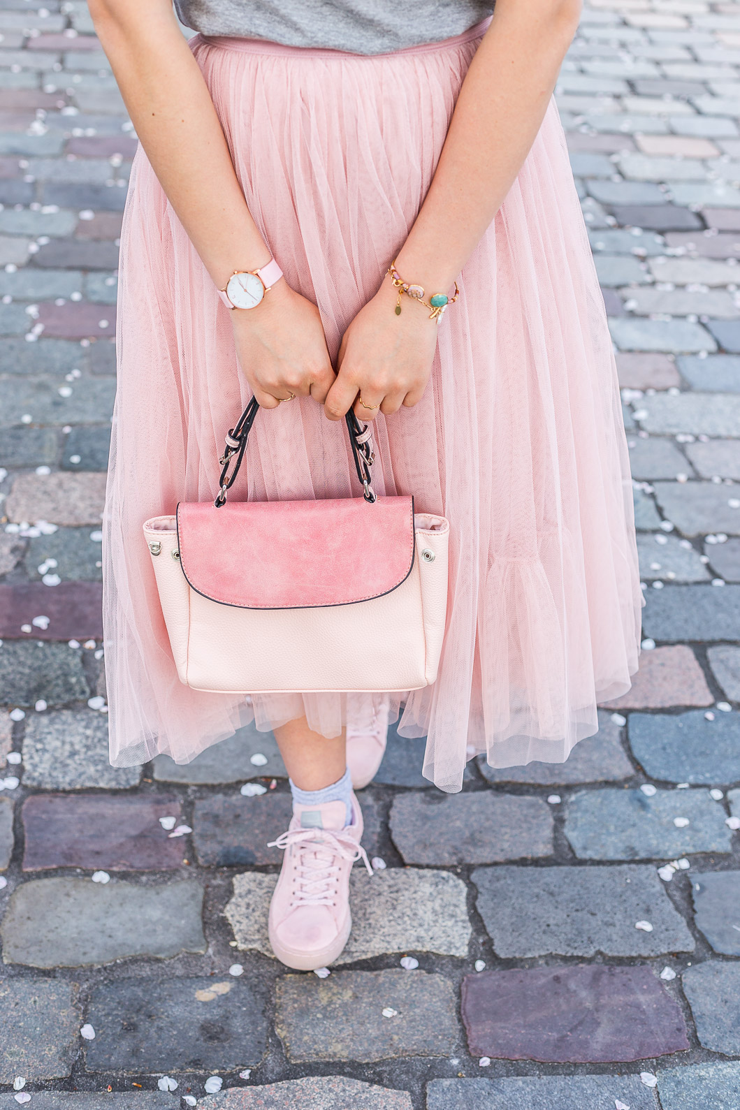 jupe longue tulle rose