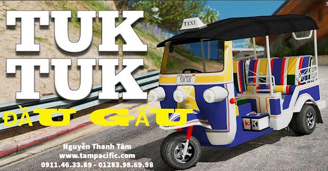 xe Tuk Tuk đầu gấu của Thái Lan