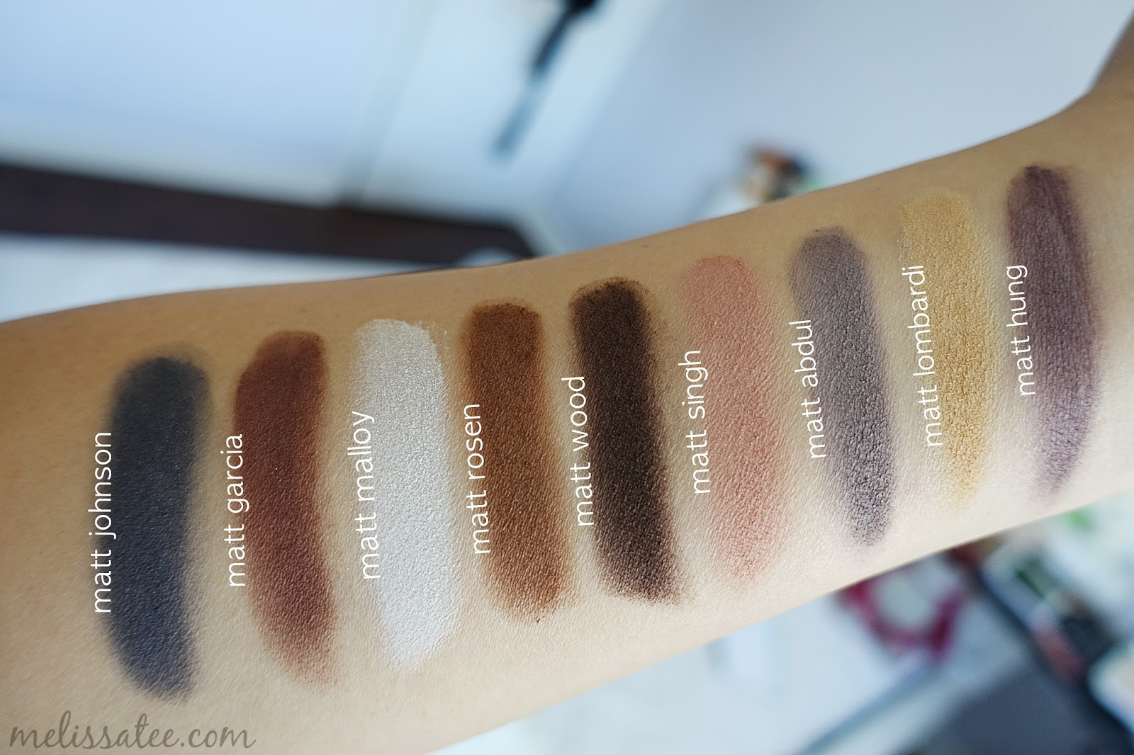 the balm meet matte palette swatches definition
