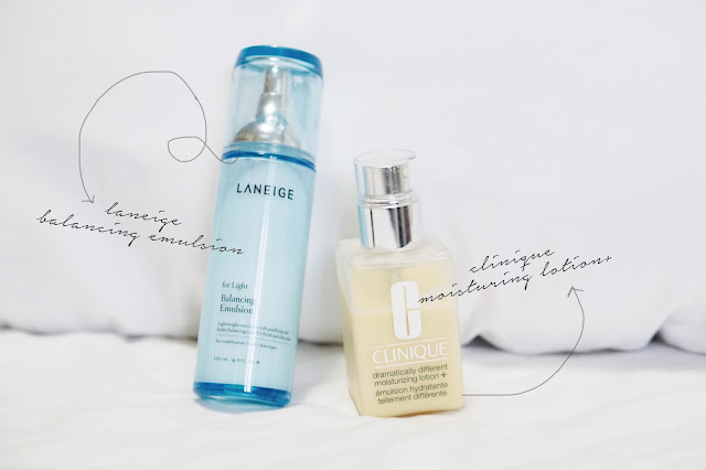 laneige balancing emulsion clinique lotion
