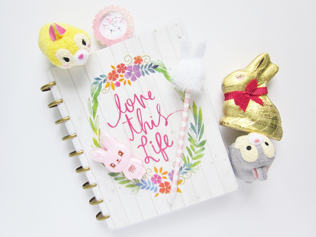 Spring Bunnies Planner Spread