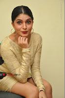 Actress Pooja Roshan Stills in Golden Short Dress at Box Movie Audio Launch  0098.JPG