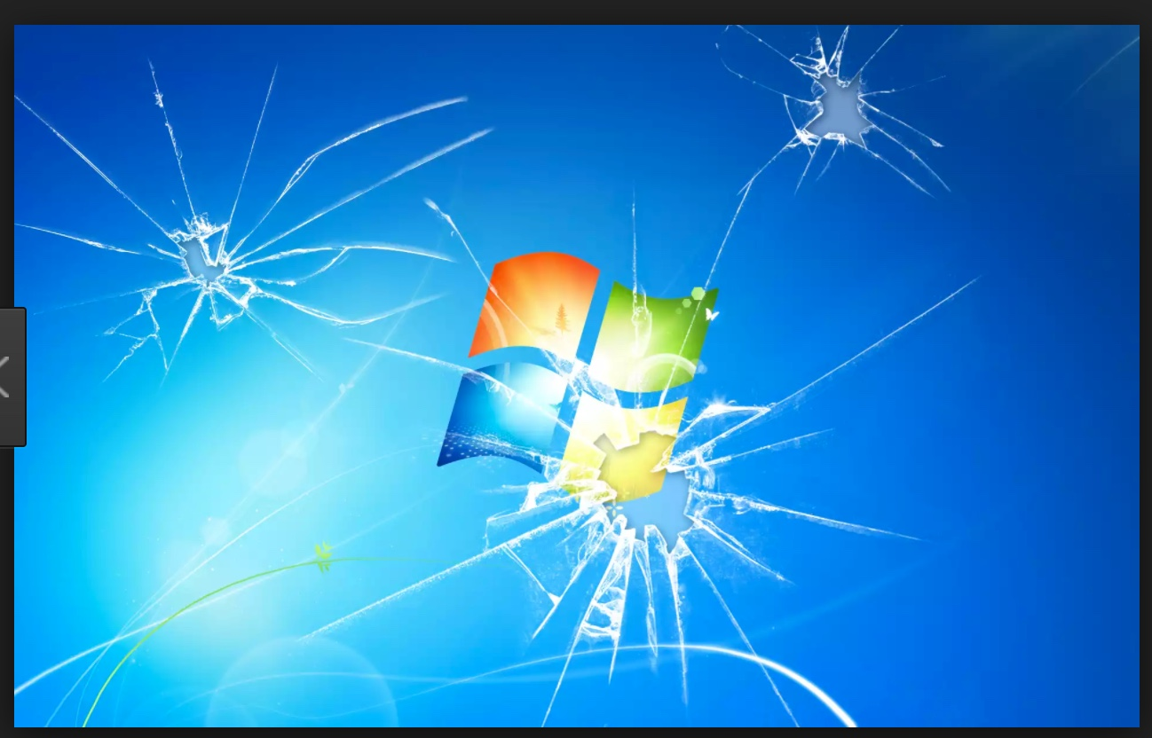 Nope Not This Kind Of Cracked Window