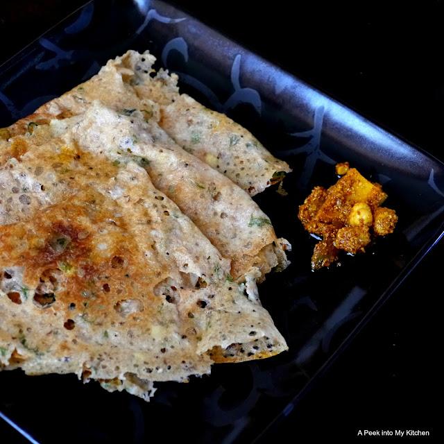 Wheat and Spelt Flour Dosai / Dosa ~ Day 135