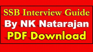 SSB Interview the Complete Guide by NK Natarajan PDF Download