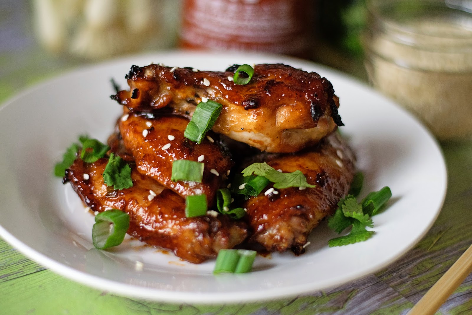 Sweet and Spicy Asian Wings Finish