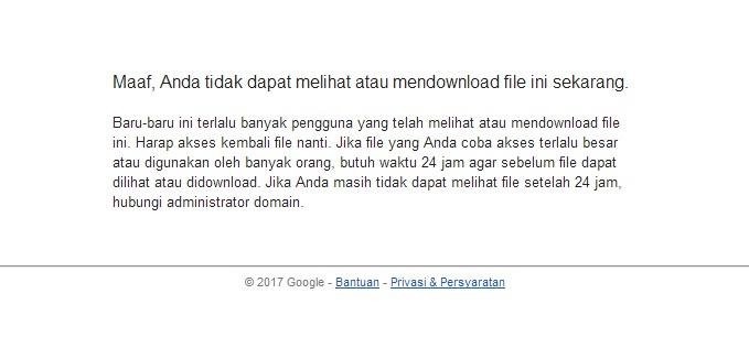 Cara Mengatasi Limit Download Google Drive