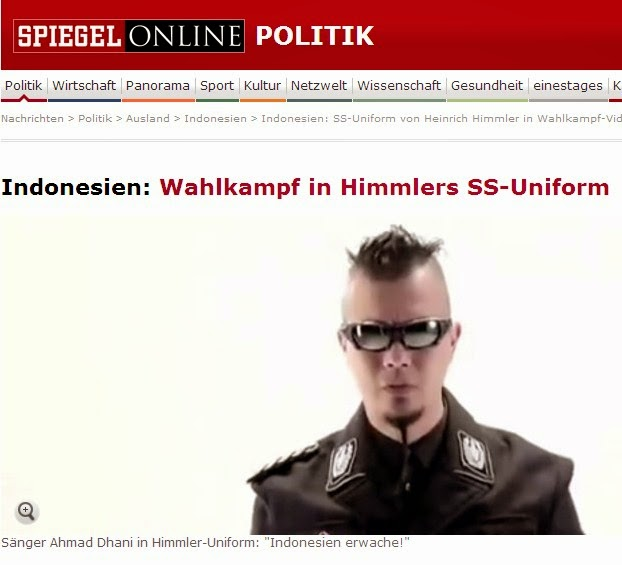 Seragam mirip NAZI Ahmad Dhani diberitakan oleh salah satu Portal Online di Jerman