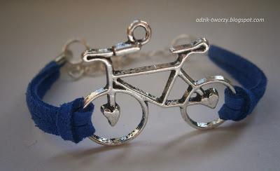 bransoletka z rzemyka rower