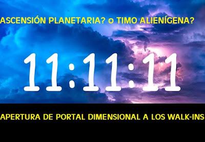 11:11 portal dimensional de la ascensión planetaria o posesión demoníaca?: CUIDADO!!! qué pasará con la activación de portal 11/11/11? #Katecon2006