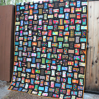 NICKEL BRICKS QUILT-GUY QUILT-SCRAP QUILT-LAP QUILT-QUILT FOR SALE