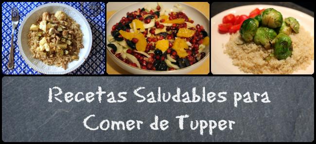 Recetas saludables para comer de táper