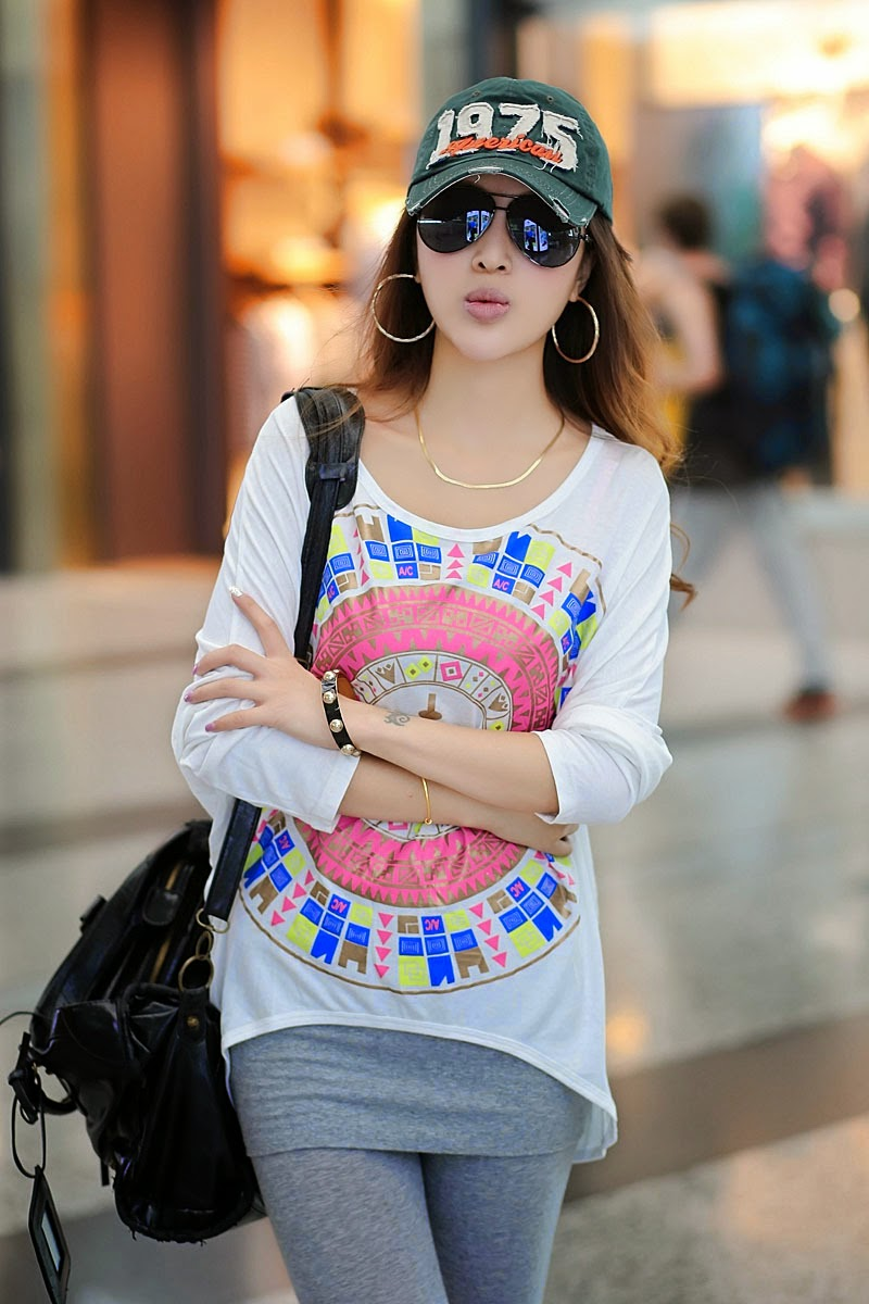 T-Shirt Loose Fitting Colorful Printing