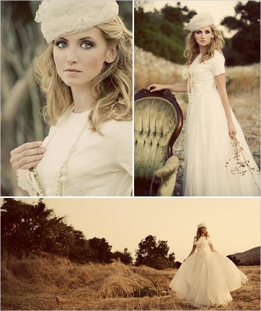 WhiteAzalea Destination Dresses: Outdoor Vintage Wedding