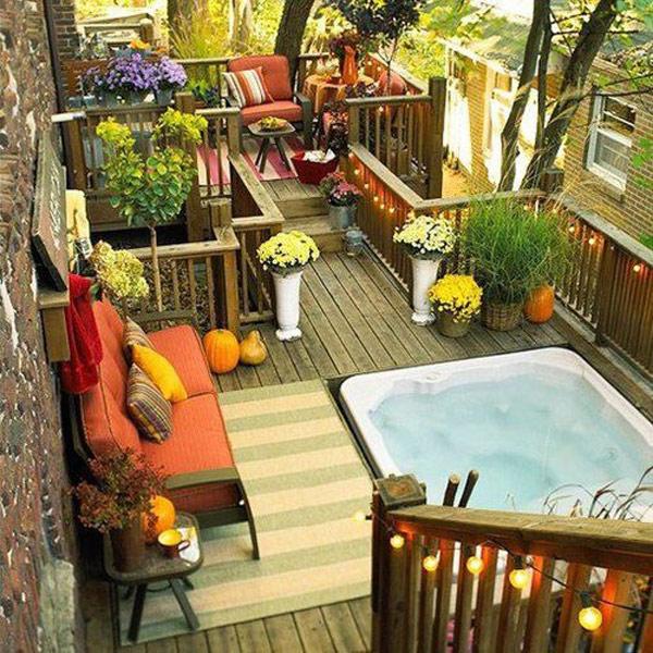 Small Home Garden Ideas Sample: بالصور : أفكار رائعة لتصميم حدائق على أسطح الأبنية لتُضيف