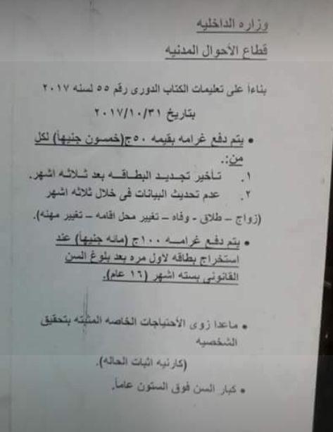#مصر : خطوات استخراج البطاقة الشخصية وتجديدها