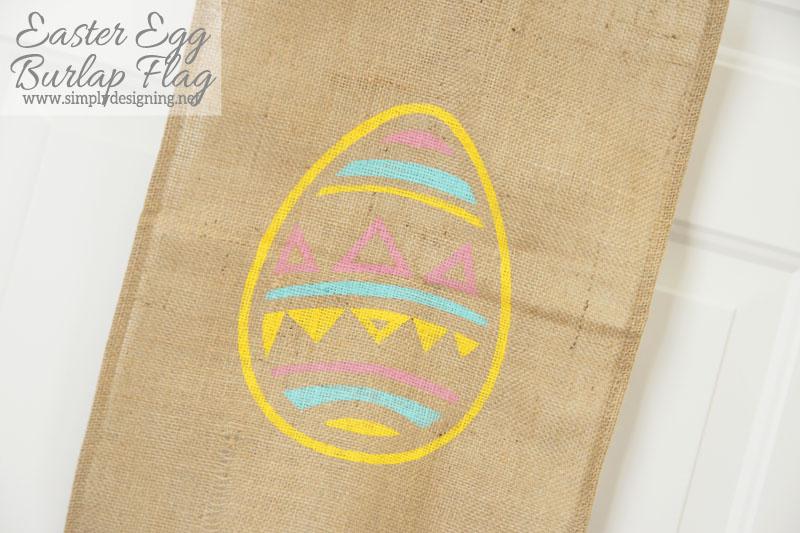 easter+egg+burlap+flag+close+up Easter Egg Burlap Flag 9