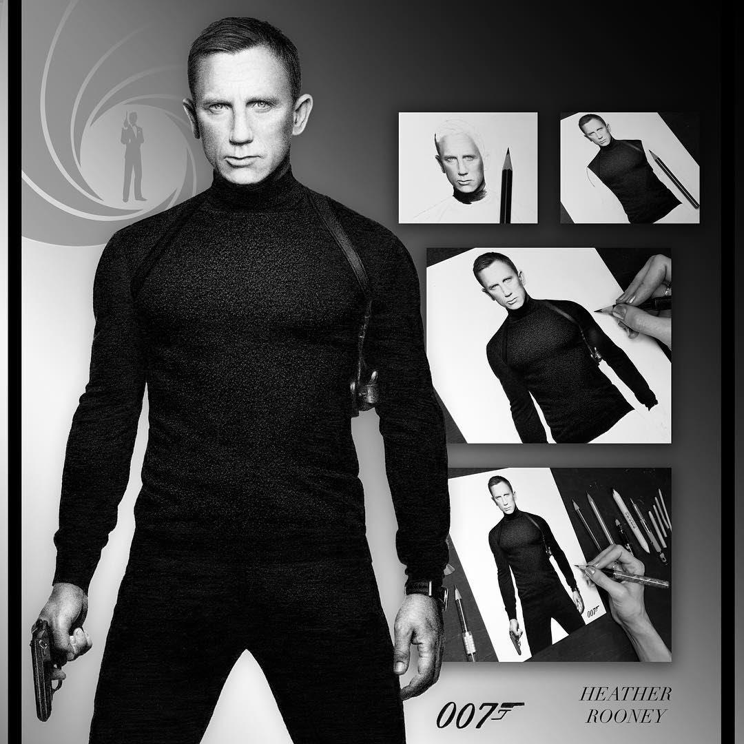 06-James-Bond-007-Daniel-Craig-Heather-Rooney-Photorealistic-Colored-Pencil-Drawing-Portraits-www-designstack-co