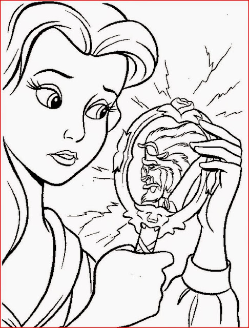 Belle Beauty and the Beast coloring.filminspector.com