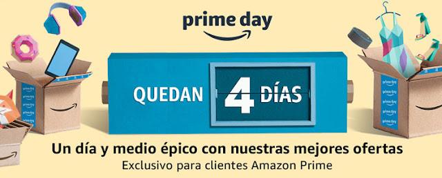 11 ofertas Quedan 4 días para el Amazon Prime Day