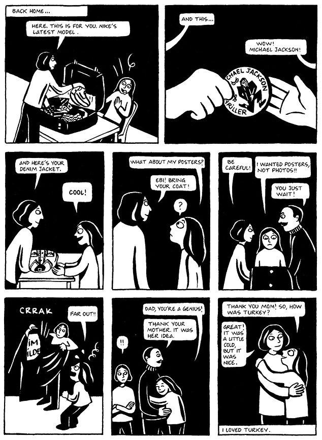 Read Chapter 17 - Kim Wilde, page 128, from Marjane Satrapi's Persepolis 1 - The Story of a Childhood