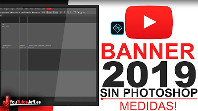 Medidas Portada Youtube 2019 - Plantilla PSD