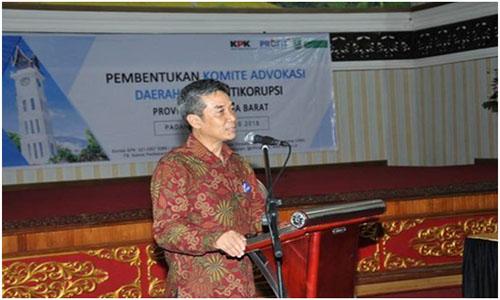 Deputi Pembinaan KPK Sunarko,Hadir Di Sumbar