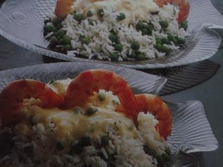 Ensalada de arroz y gambas