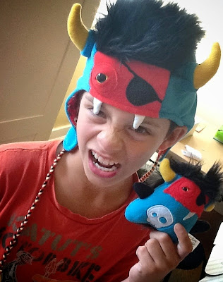 Handcrafted Fleece Monster Hat & Plush Dolls