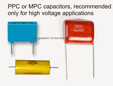 high voltage PPC, MKT, Box capacitors