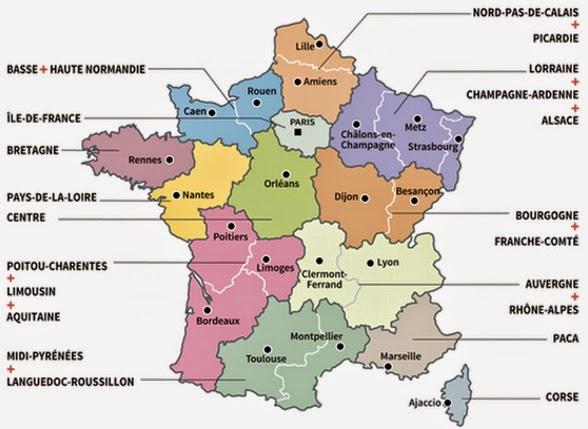 Regioni Francia Cartina.Sostenibilitalia Il Blog Di Emilio D Alessio Accorpare Le Regioni La Francia Fa Sul Serio