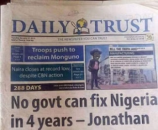 No Govt Can Fix Nigeria In 4yrs - GEJ 2015