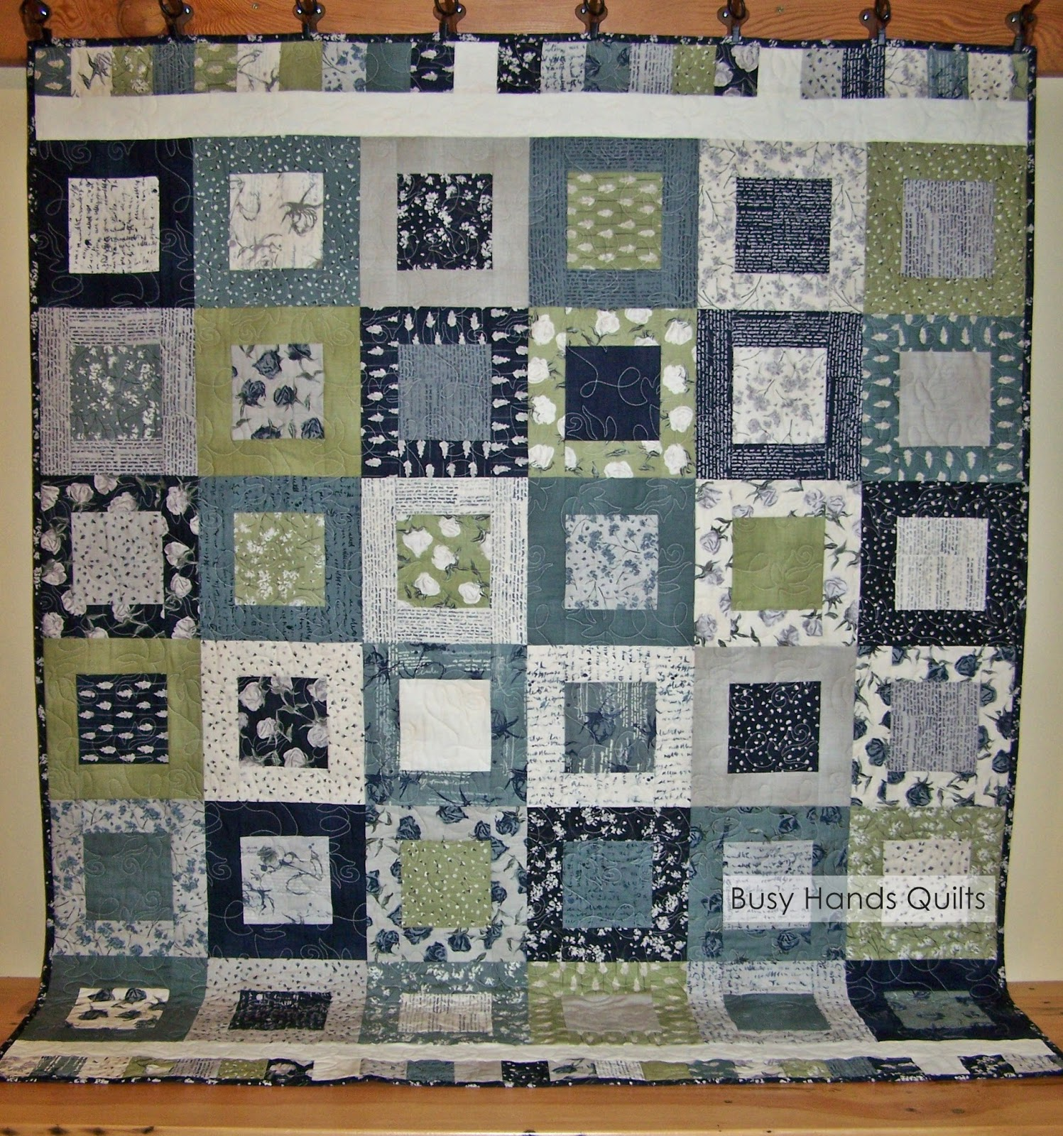Busy Hands Quilts: Square in a Square Wordsmith Quilt - Custom Quilting by Busy Hands Quilts