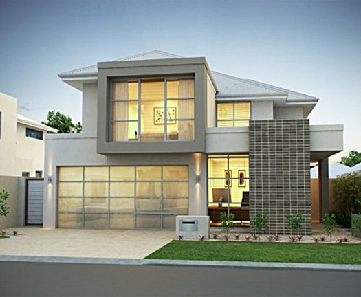 minimalist 2-storey house inspiration for you - Lampung interior house