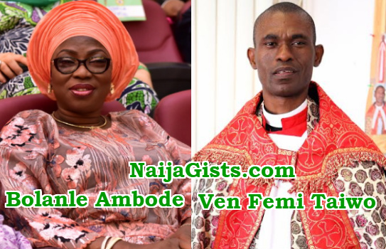 bolanle ambode forced husband to sack ven. femi taiwo