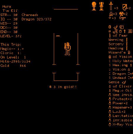 Imagen del Imagen del juego DnD (1975) que corría en la computadora PLATO V.