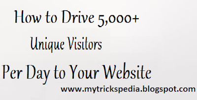 How to Drive 5,000+ Unique Visitors per day to Your Website