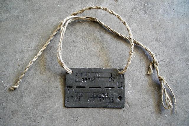 Piastrino tedesco rettangolare prigioniero di guerra