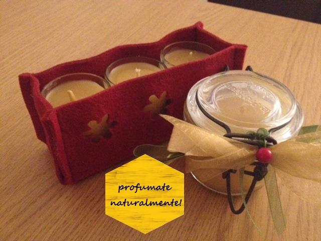 candele in pura cera d'api versione natalizia