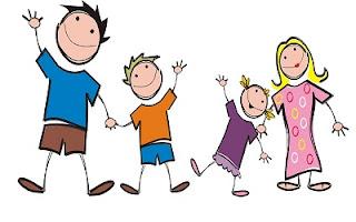Disegno famiglia felice