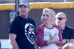 Britney Spears David Lucado and Kevin Federline at the match sons