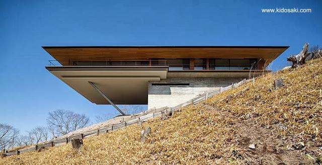 Residencia Minimalista estructura volada en Yatsugatake, Japón