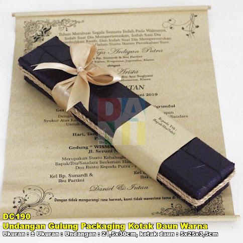 Undangan Gulung Packaging Kotak Daun Warna