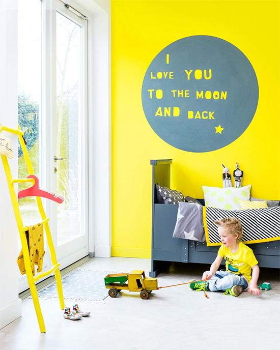 parede amarela, yellow wall, decor, quarto infantil, quarto de criança, kid´s room, decoração